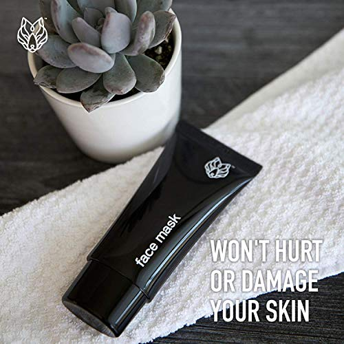 Black Wolf Nation Detoxifying Charcoal Peel Off Face Mask - 2 Fl Oz - Emulsifies and Bids to Blackheads, Dirt and Oil - Deep Cleansing Blackhead Remover - Cruelty, Sulfate and Paraben-Free