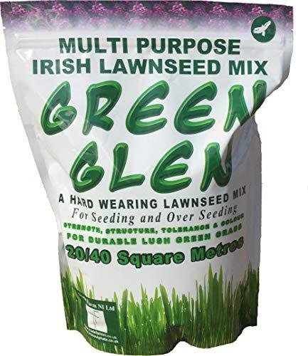 Hard Wearing Grass Seed 20-40 SQ Metres - Green Glen Special Diamond...