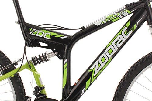 KS Cycling Fahrrad Mountainbike MTB Fully Zodiac, Schwarz/Gruen, 26 Zoll, 321M - 4