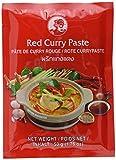 COCK Currypaste Rot, mittlere Schärfe, authentisch thailändisch Kochen, natürliche Zutaten, vegan, halal & glutenfrei (12 x 50 g)