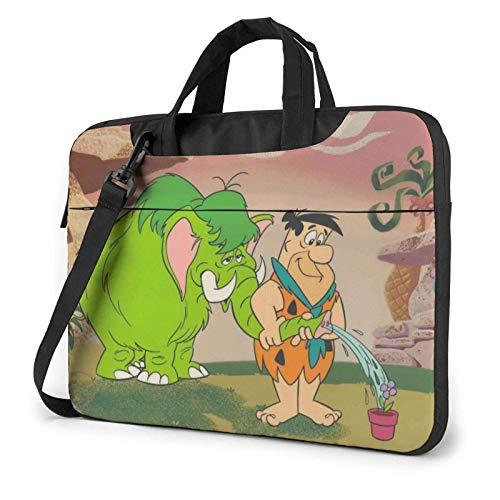 shenguang Flintstones Laptop Shoulder Messenger Bag Case Sleeve for (13 Inch 14 Inch 15.6 Inch) Durable and Lightweight Portable Laptop or Ipad Tablet Case Laptop Briefcase 14 inch