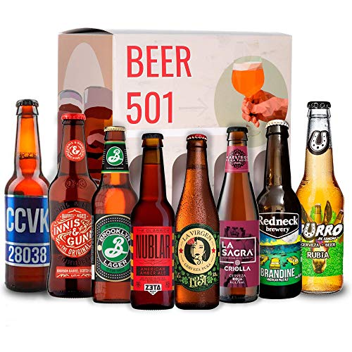 Cervezas artesanales BEER 501 : Zeta, Espiga, La Sagra, La Virgen, Burro, CCVVK, Brooklyn, Innes and Gunn I Ideas para regalar I Cervezas para degustación.