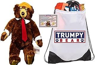Deluxe Trumpy Bear, Certificate of Authenticity, Trumpy Bear Bag & US Flag