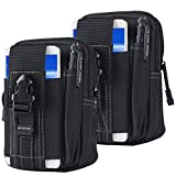 Tactical Waist Belt Bag | Universal Outdoor EDC Military Holster Wallet Pouch Phone Case Gadget Pocket for iPhone X 8 7 6 6s Plus Samsung Galaxy S8 S7 S6 S5 S4 S3 Note 8 5 4 3 2 LG HTC