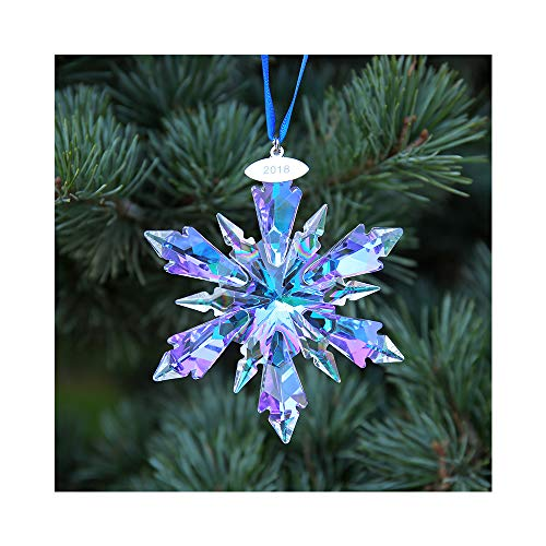 SIYOUKI Christmas Crystal Snowflake 2018 Annual Star Decoration Car Pendant Window Prism Hanging