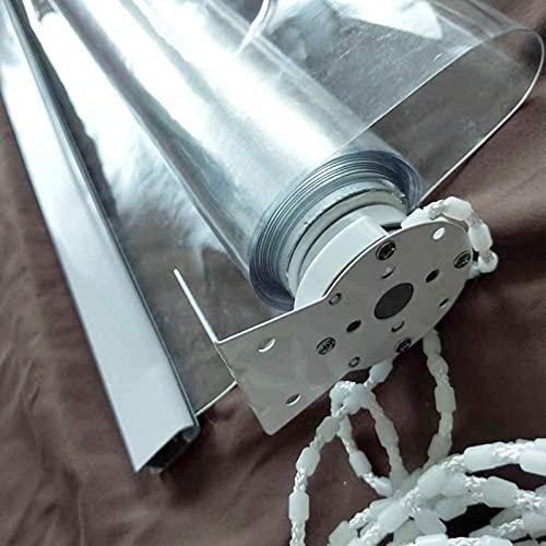 ZXXL Persiana Enrollables Bambú Persianas Enrollables Transparentes 80cm/100cm/120cm/140cm/150cm/160cm Ancho, Terraza/Porche/Pérgola/Balcón/Patio Trasero Cortina Enrollable de Plástico Transparente