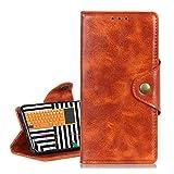 BRAND SET Cubierta Protectora para LG K92 5G Funda Libro Cuero PU Flip Folio Carcasa Estilo Retro con Ranuras Tarjetas Visita y Función Soporte Case para LG K92 5G(Naranja)