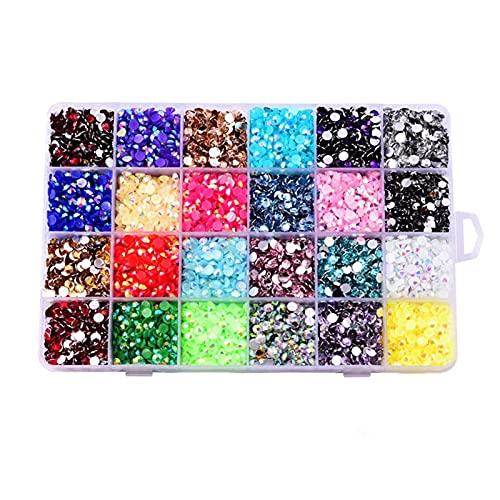 Piedras de resina mezcladas al azar con colores de jalea de colores de resina Hotfix con parte trasera plana y diamantes de imitación para boda