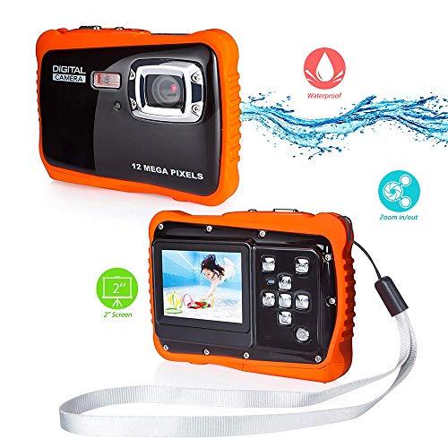 Kinderen Waterdichte Camera, 12 MP Onderwater Camera 4X Digitale Zoom Digitale Camera 3.0 Meter Volledig Verzegeld 2.0 Inch LCD Scherm voor Snorkeling Kinderen Gift