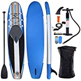 REDCAMP Inflatable Stand Up Paddle Board with Premium SUP Accessories & Carry Bag,Non-Slip Deck, Leash, Paddle and Pump,Standing Boat Paddleboard for Youth & Adult