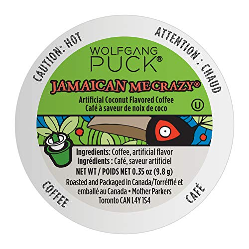 Wolfgang Puck Coffee, Keurig KCups for Keurig Brewers, White, Jamaican Me Crazy, 24 Count
