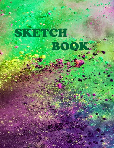 """Sketchbook: sketchbook: beautiful would you like to have some border or no 120 page notebook for drawing, sketching: 8.5""""X11"""", for people of all ... in green, specially edited for kids size."""