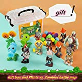 Plants Vs Zombies Figura de acción Caja de almacenamiento de juguetes Pea Shooter Giant Zombie Catapult Figura de vinilo suave para niños Figura Zombie Plant Dolls