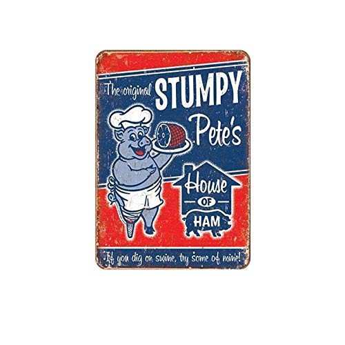 SKYNINE INC HOUSE OF HAM Vintage Metalen Tin Signs, 20 X 30cm, Unieke Retro Muurdecoraties voor Lounge/Bar/Cafe/Home Keuken/Restaurant/Slaapkamer/Garage/Man Grot/Gas Station.