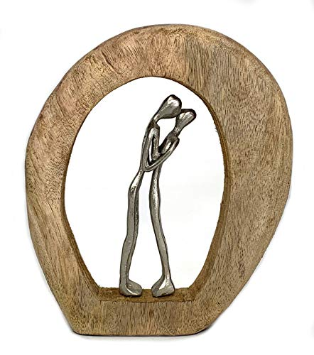 Moritz Skulptur Couple in Love Liebe 23 x 4 x 26 cm Liebespaar Päarchen Verliebt Sein schöne Deko Figur Dekoration Figur Paar in Liebe