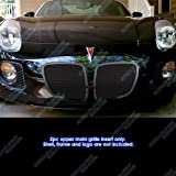 APS Compatible with 2006-2009 Pontiac Solstice Black Mesh Grille Grill Insert P75545H