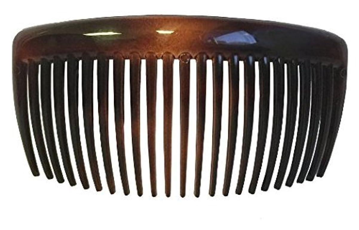 高齢者リスキーなファントムParcelona French Large 2 Pieces Glossy Celluloid Shell Good Grip Updo 23 Teeth Hair Side Combs 4.25 Inches for Thick Long Hair [並行輸入品]