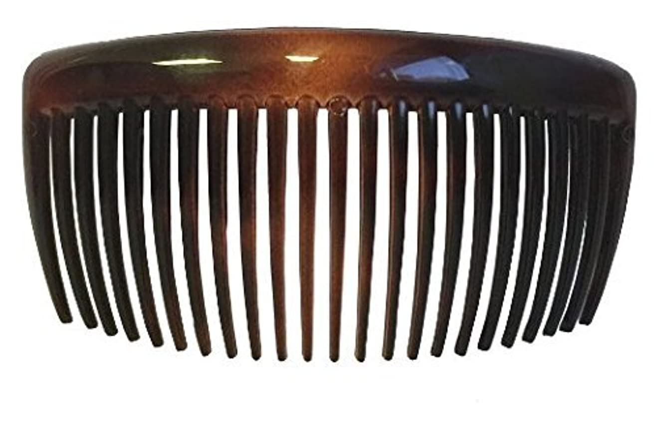 クモ処理戦闘Parcelona French Large 2 Pieces Glossy Celluloid Shell Good Grip Updo 23 Teeth Hair Side Combs 4.25 Inches for Thick Long Hair [並行輸入品]