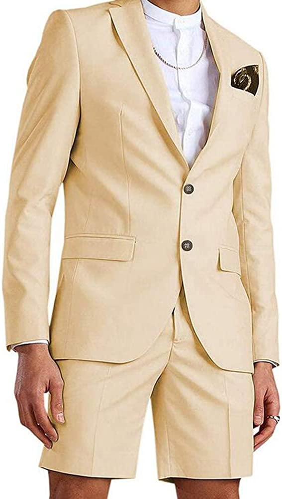 Anna Fashion Men's Slim Fit 2 Business Beach Pieces Popular product Max 67% OFF Suit Summer