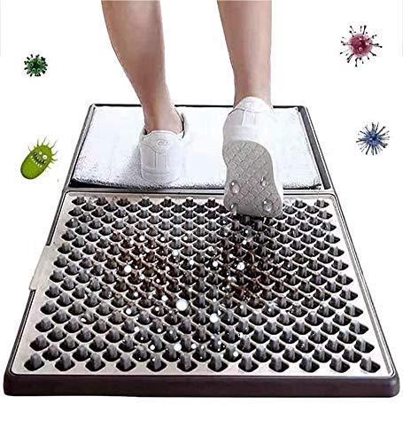 XYQCPJ - Felpudo de entrada desinfectante, multifunción con suelas de zapatos, desinfectante automático, fácil de limpiar quitar el polvo del piso del hogar para el hogar industrial
