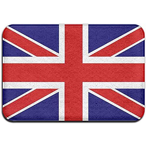 N/A Britische Flagge Outdoor Gummimatte Vordertürmatten Veranda Garage Large Flow Slip Eingang Teppich Standard Teppich Home