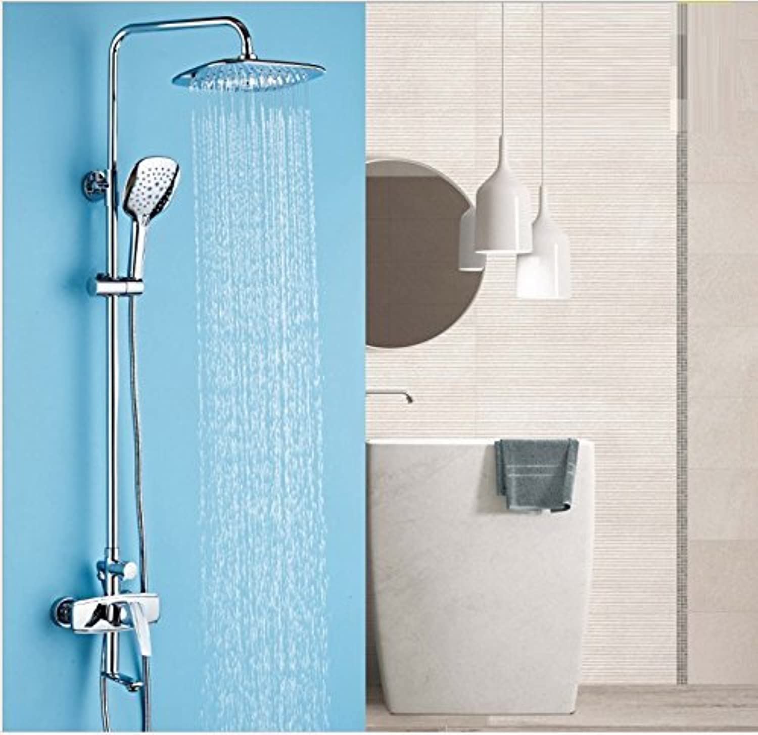 Handheld Shower, All The Copper of The Cold Water of The Hot Water A Electrodeposition of Control of The Function of Three Keys