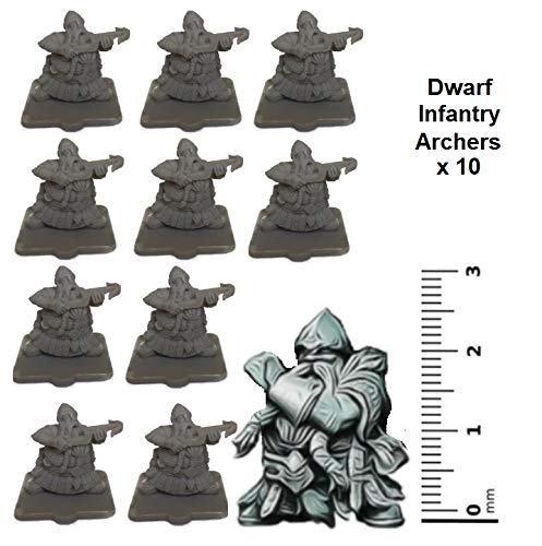 Miniatures RPG WQ Zwerg Infanterie Armbrust x 10