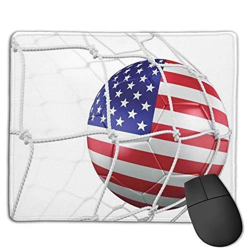 Mousepad USA Amerikanische Flagge gedruckt Fußball in einem Netto Ziel Erfolg stilisierte Artwork Design Gaming Mouse Pad