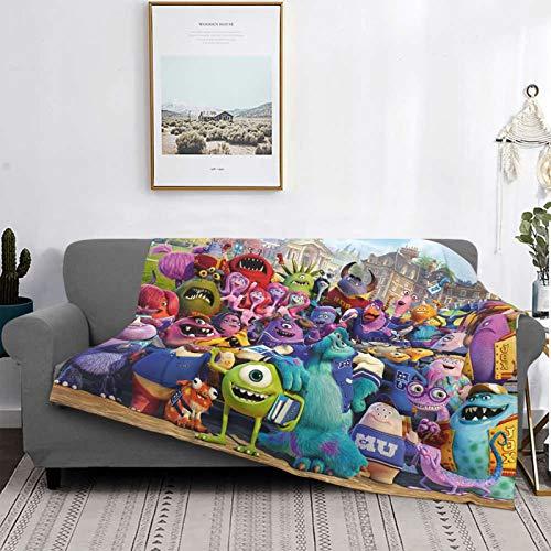 Monster University - Manta suave para invierno, manta cálida para sofá y sofá, manta cómoda para decoración de sala de estar