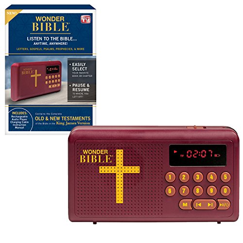 Wonder Bible KJV- The Talking Audio Bible Player (King James Version), As Seen on TV