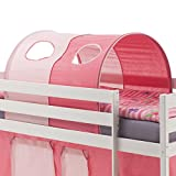 IDIMEX Tunnel Max Tente cabane pour lit surélevé Coton Rose