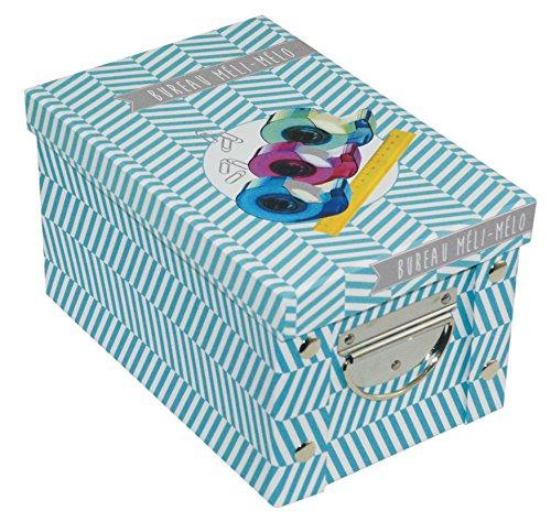 Incidence Paris 42546 Boite ADEKUAT - Bureau, Carton, Bleu, 23,5x15,6x14 cm
