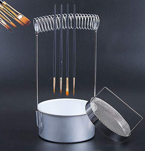 筆洗器?筆洗いバケツ ブラシウォッシャー 4本セット 持ち運びに便利 ステンレス製 油絵具 アクリル絵具 ブラシウォッシュ缶 陶器 絵画道具