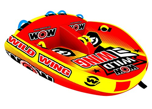 WOW Sports 1 to 2 Person Towable Wild Wing Front and Back Tow Points Inflatable Raft