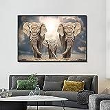Póster de arte de 30x50cm sin marco manada de elefantes africanos carteles de animales modernos e impresiones cuadro de arte de pared de sala de estar decoración de Cuadros