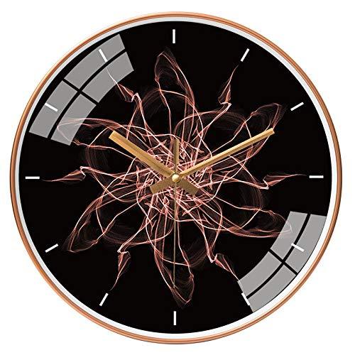 ZZLHHD Apto para Decorar Moderno Reloj Pared Reloj de Pared Ultra silencioso para el hogar-094 Oro rosaPared Estilo Moderno Reloj Ronda