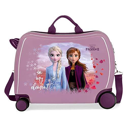 Disney Frozen Die Eiskönigin Nature is magical Kinder-Koffer Violett 50x38x20 cms Hartschalen ABS Kombinationsschloss 34L 2,1Kgs 4 Räder Handgepäck