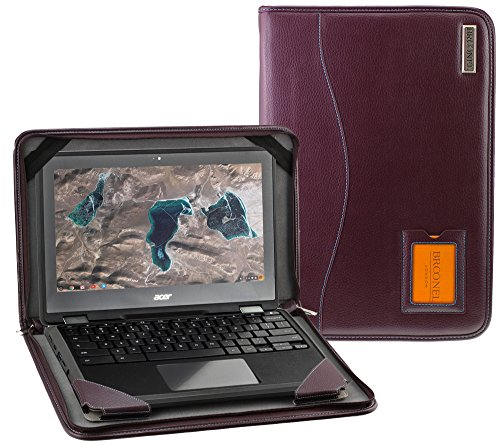 Broonel - Contour Series - Purple Heavy Duty Vegan Leather Protective Case Cover Compatible With The Acer Aspire F 15