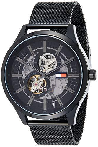 Tommy Hilfiger Reloj Analógico para Hombre de Automático con Correa en Acero Inoxidable 1791644