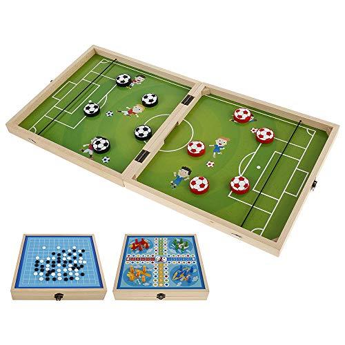 Fast Sling Puck Game, 3 En 1 Plegable Foosball Slingshot Winner Juegos...
