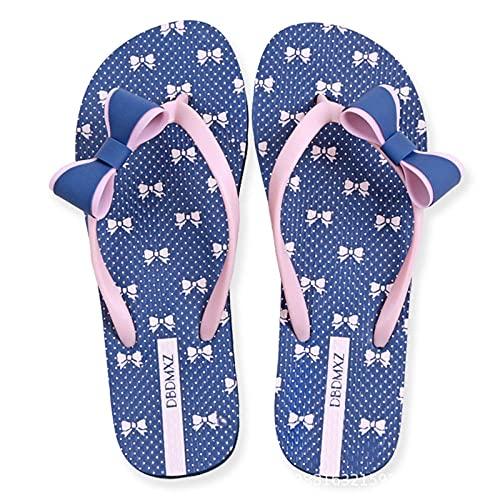 YYFF Chanclas Slider para Hombre,La Gente Della spiaggia si infila,indossando Sandali a Fondo Piatto-Navy Blue_36,Sandalia Tipo Masaje