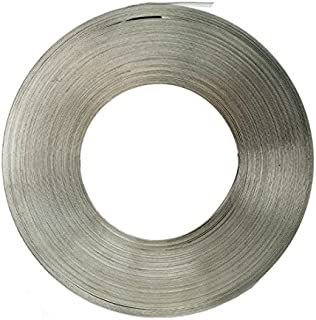 ISO LG181 Type 201 Stainless Steel Lite Gauge Band, 1/2