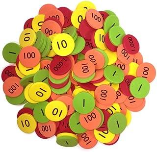 EAI Education QuietShape Foam Place Value Disks Ones to Thousands: Set of 160