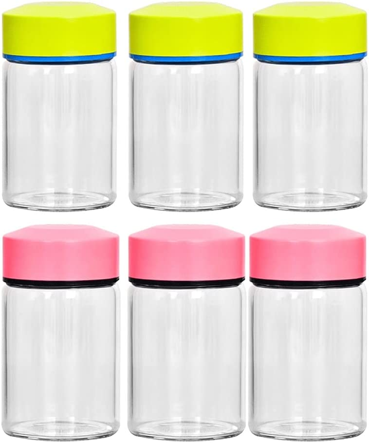 Canisters 6 Pack Glass Jars Premium with Clear L Food-Grade Reservation Philadelphia Mall