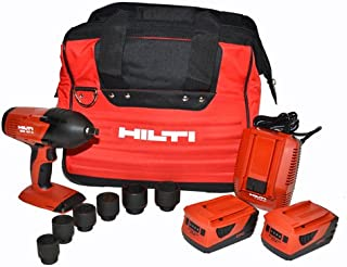 Hilti 3497769 SIW 18T-A 1/2-Inch CPC Cordless High Torque Impact Wrench with 6 Impact Sockets, Fixed