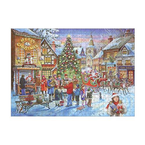 Weihnachtsgeburtstagsgeschenke Für Kinder, 500 Stück / 1000 Stück Weihnachts-weihnachtspuzzle Mit Runder Dicke, Benutzerdefiniertes Gebäude-landschaftsrätsel, Familienrätsel Für Erwachsene