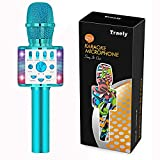 TRAELY Gifts for 5-10 Year Old Girls Kids Karaoke Microphone Christmas Party Presents Ideas Birthday Gifts for Girls Age 5 6 7 8 9 10(Blue)