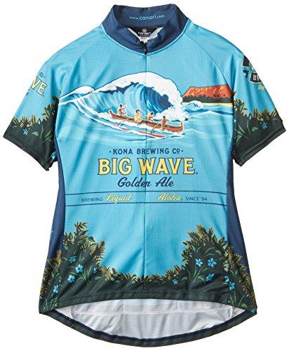 CANARI Damen Kona Brauen Big Wave Jersey, Damen, Mehrfarbig