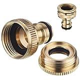 DOITOOL V/álvula de bola de filtro de lat/ón de rosca hembra dn25 de 1 pulgada y tipo conector de manguera de jard/ín para herramienta de separaci/ón de gas y agua