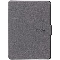 Chiic Funda Amazon Kindle (8e generación, 2016) – Piel Delgada con Protector de Pantalla Relieve Auto Sleep Wake para Amazon Kindle sy69jl 8ème generación Gris Gris 163×120mm